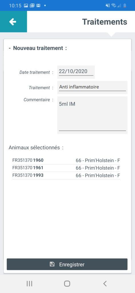 Ecran Documents Sanitaire Traitement 3